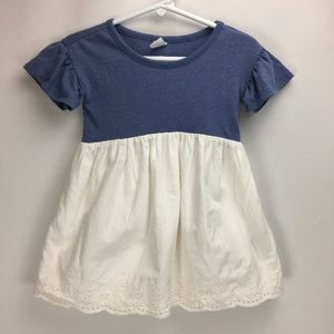 Gap Baby Dress 18-24 Mo Cotton Blue White Eyelet